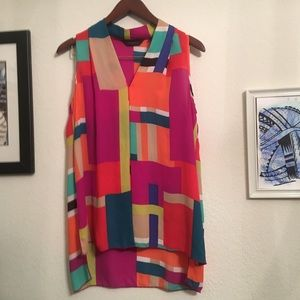 Investments color block top